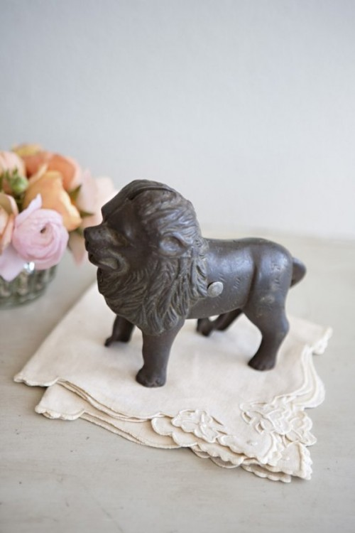 cast iron vintage lion
