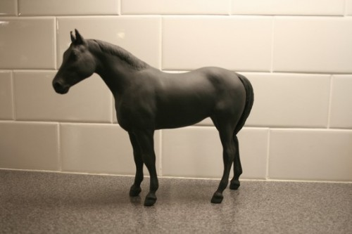 The Original Chalk Board Horse - Obsidian