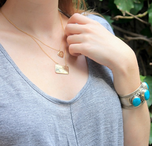 three jane map necklace