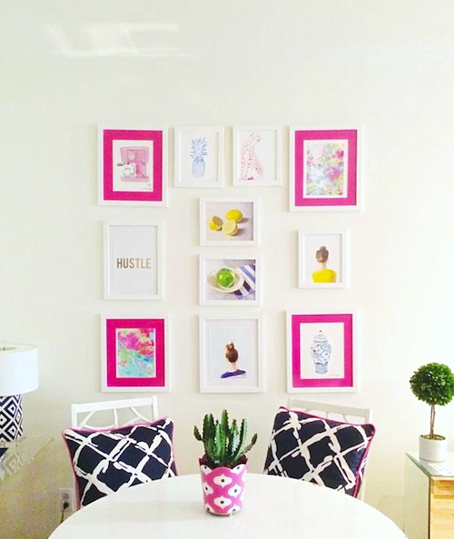 design darling apartment gallery wall