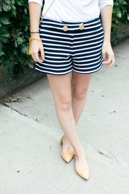 elizabeth mckay striped shorts