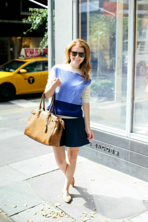j.crew sweater + skirt