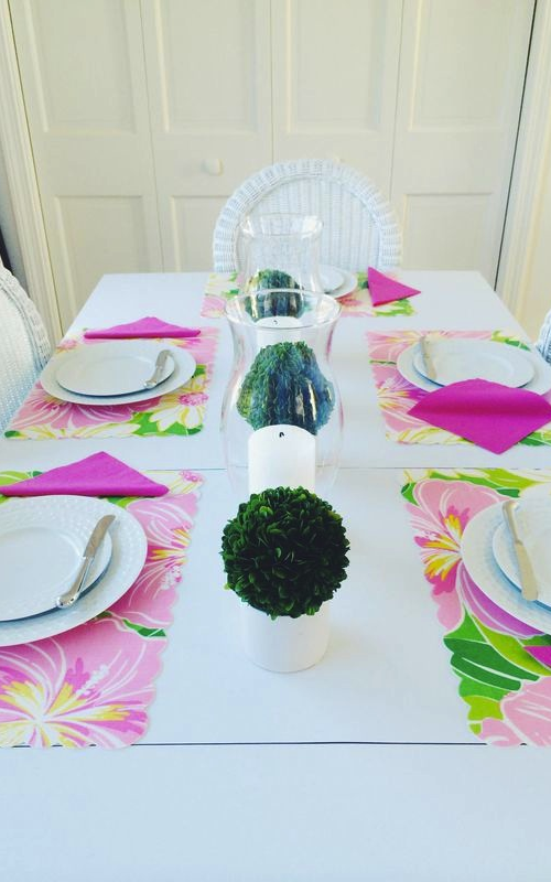lilly pulitzer placemats