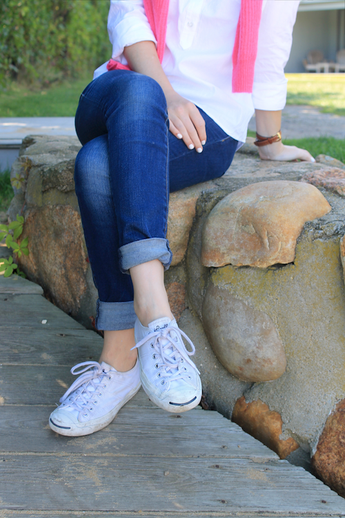 old navy shirt converse sneakers