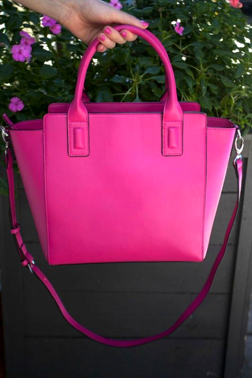 vera bradley hot pink satchel