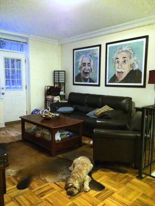 one room challenge albert einstein paintings