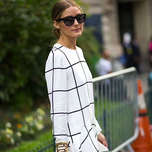 grid print dress olivia palermo chloe grid prints
