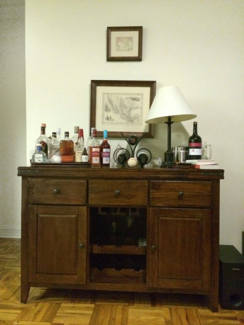 one room challenge week 1 bar cart