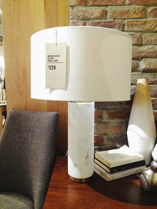west elm marble lamp