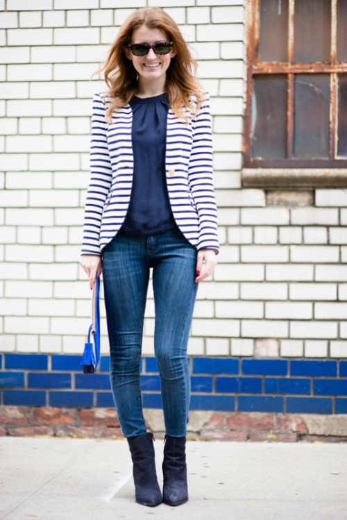 elizabeth mckay striped blazer