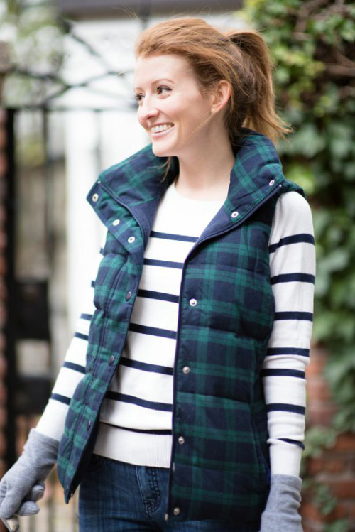 mixing plaid and stripes