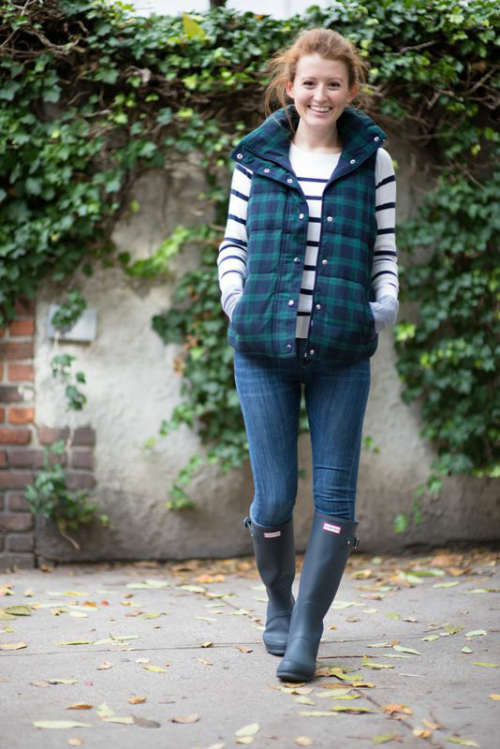 old navy plaid quilted vest