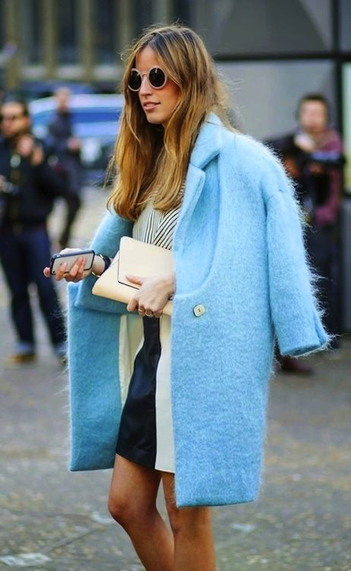 turquoise winter coat