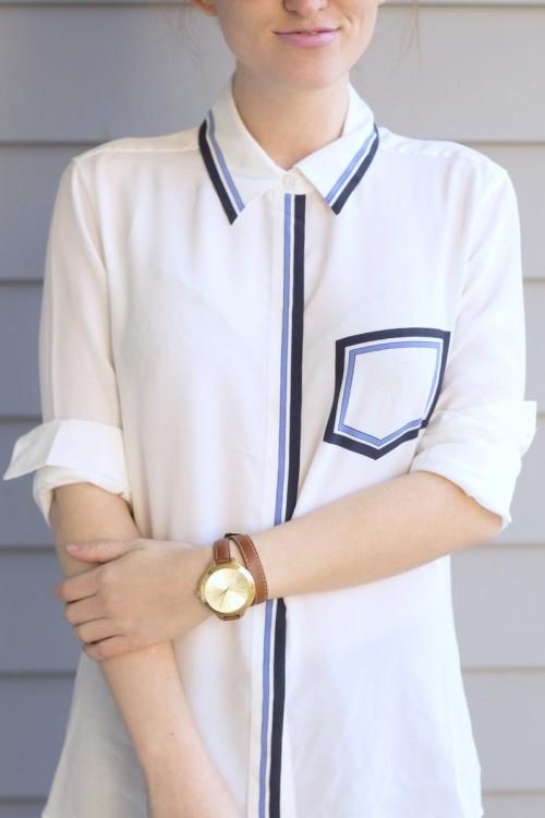 equipment white blouse