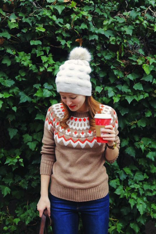 old navy fair isle sweater