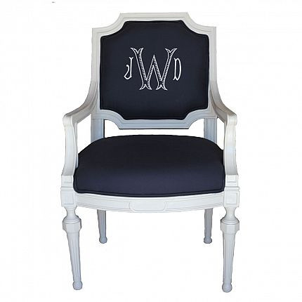 monogrammed side chair
