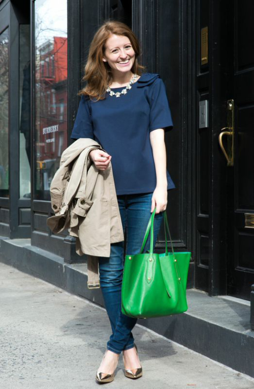 annabel ingall green tote bag