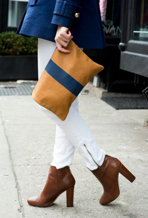 j.crew rory boots clare vivier stripe clutch