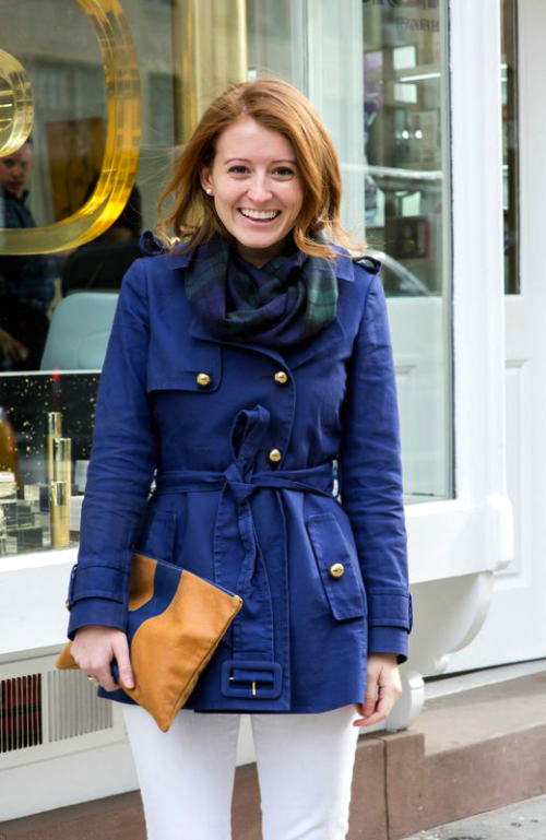 kate spade navy trench coat