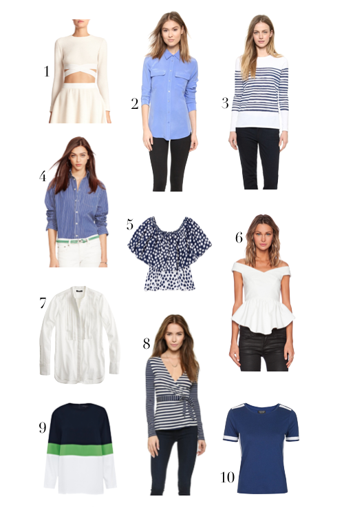 10 tops i love right now