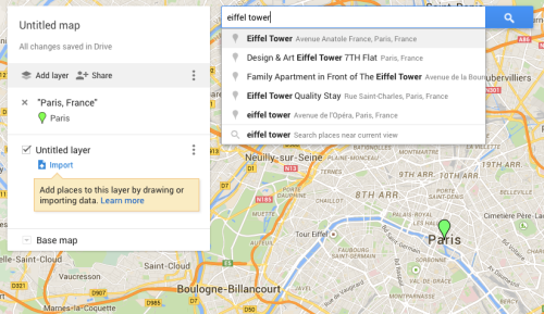 google my maps paris