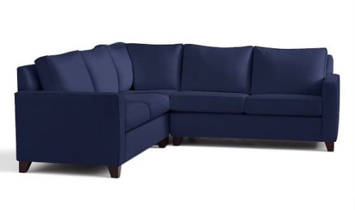 pottery barn cameron upholstered square arm