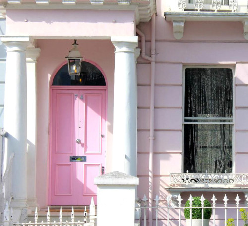 notting hill london pink door townhouse