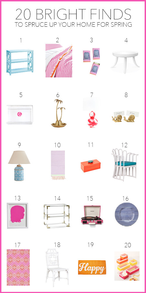 spring decorating —20 bright finds to spruce up your space for spring