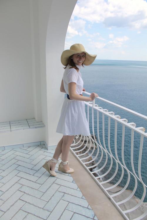 white eyelet shirt dress soludos wedge espadrilles