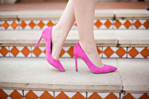 ivanka trump pink carra pumps