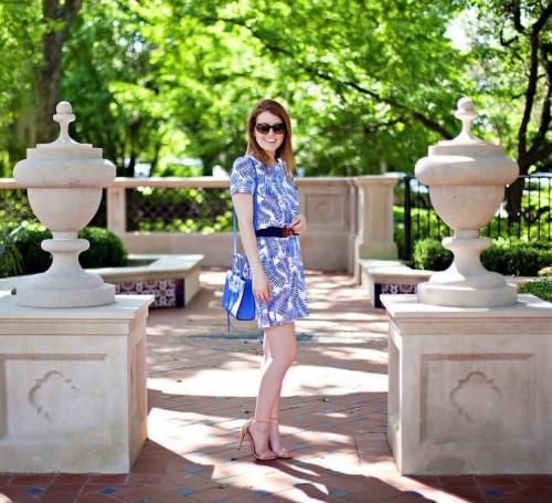 persifor palm print dress