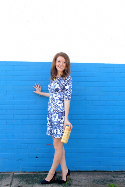 milly blue and white dress
