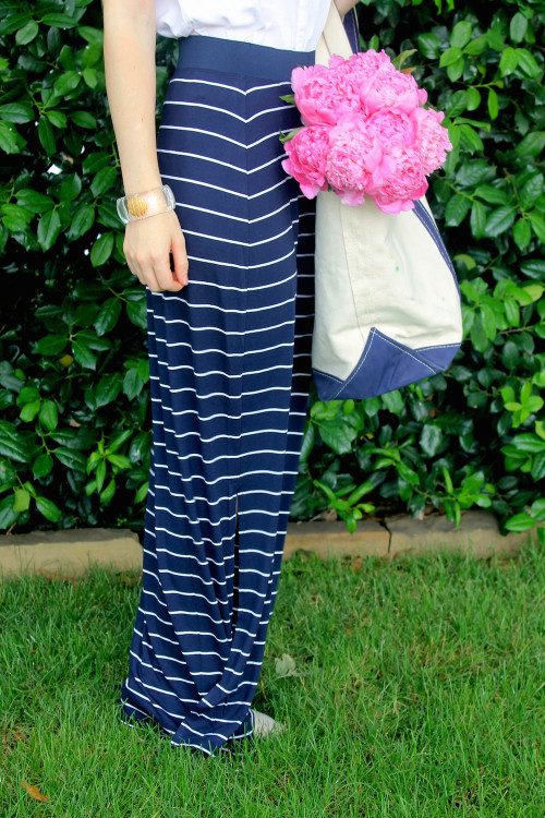 old navy striped maxi skirt