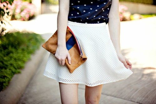 bb dakota white eyelet skirt