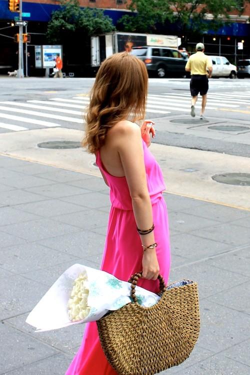 design darling hot pink maxi dress
