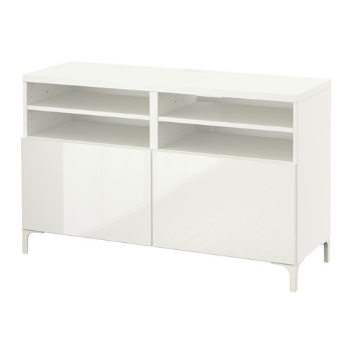 ikea besta tv bench with doors high gloss white