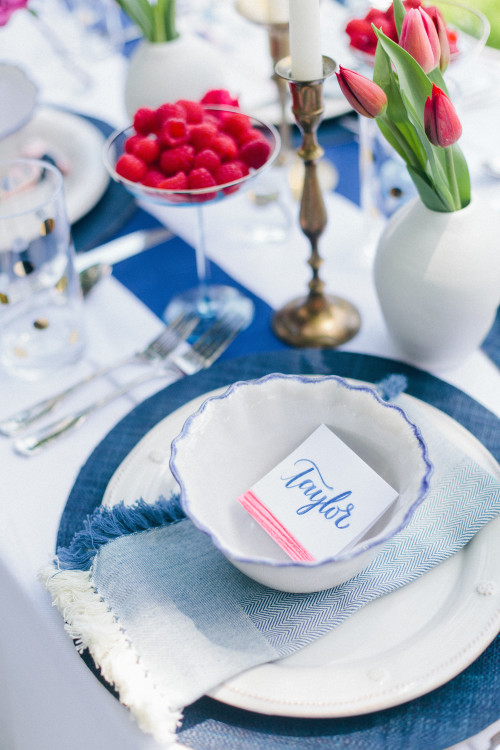 calligraphy watercolor place cards