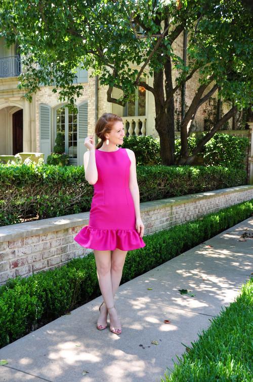 camilyn beth drop waist pink dress