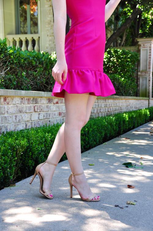 camilyn beth pink drop waist dress