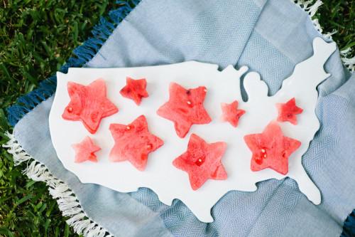 fourth of july watermelon stars usa platter