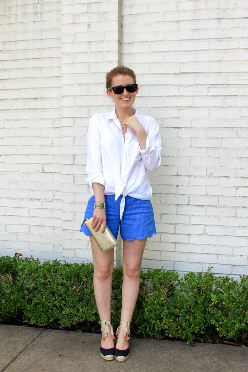 lilly pulitzer scalloped shorts bay blue