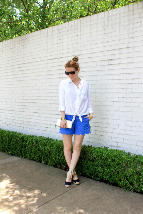 lilly scalloped shorts