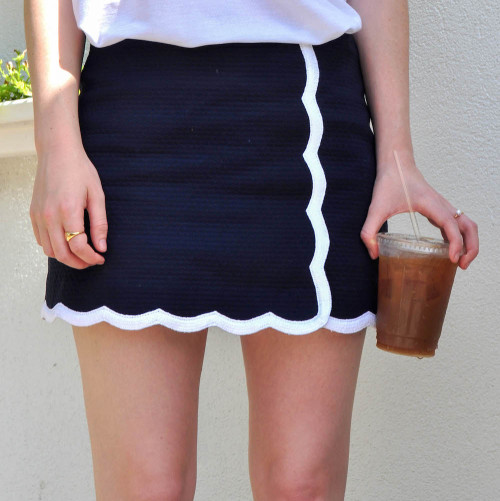 lilly navy scalloped skort