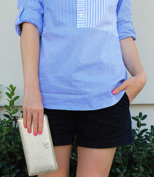 stripe party popover shirt