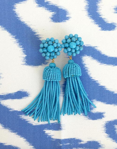 design darling lisi lerch turquoise tassel earrings