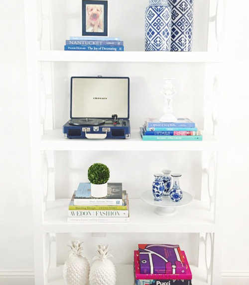 design darling wisteria bookshelf styling