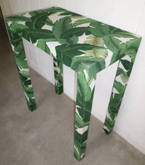 custom upholstered parsons table