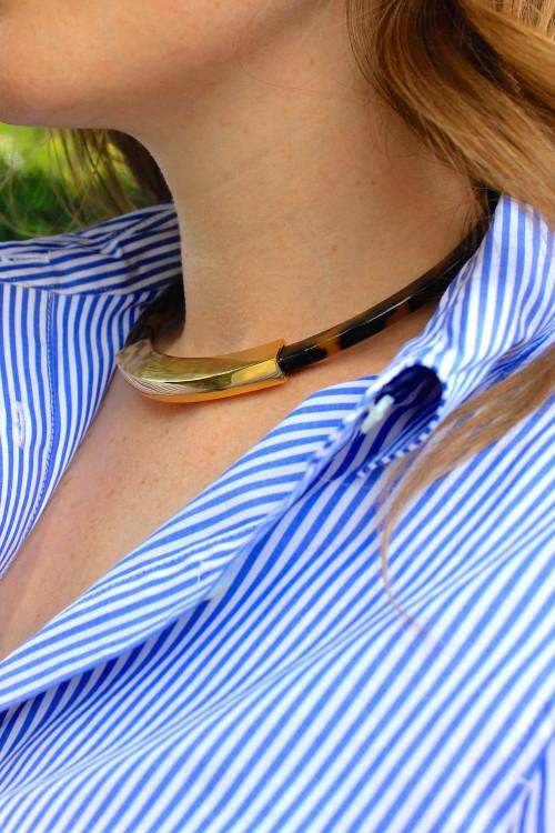 lauren ralph lauren tortoiseshell choker necklace