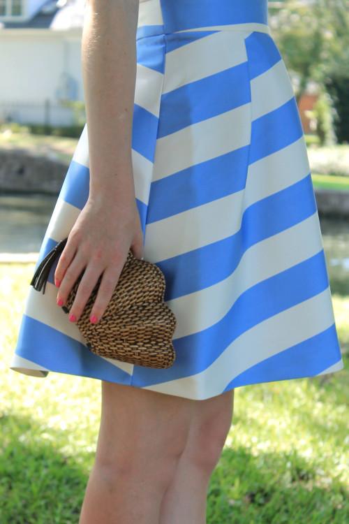 nordstrom topshop stripe v neck cutout dress