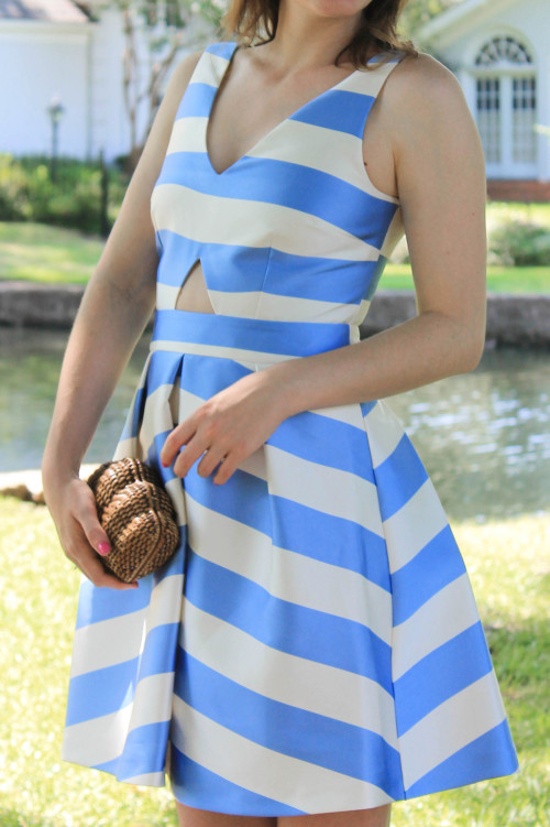striped cutout dress topshop nordstrom